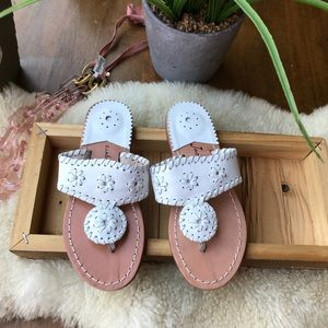 Jack Rogers white Navajo Sandals Girls Sz 2🎀🎀🎀